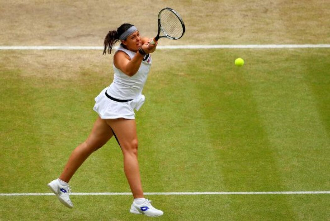 La francesa ha alcanzado la final de Wimbledon tras caer en la tercera r...