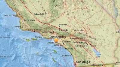 Un temblor de magnitud 3.5 se registró en el sur de Los Angeles la noche...