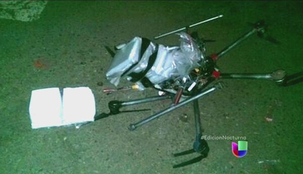 Un pequeño dron con metanfetaminas cayó en Tijuana
