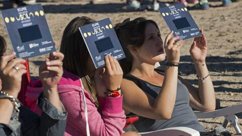 Primer eclipse solar del 2017 formó un anillo de fuego que se vio en zon...