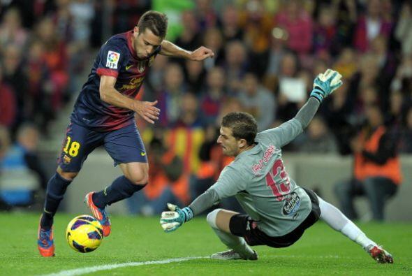 En la segunda parte Jordi Alba hizo el 3-0 partiendo en fuera de juego.