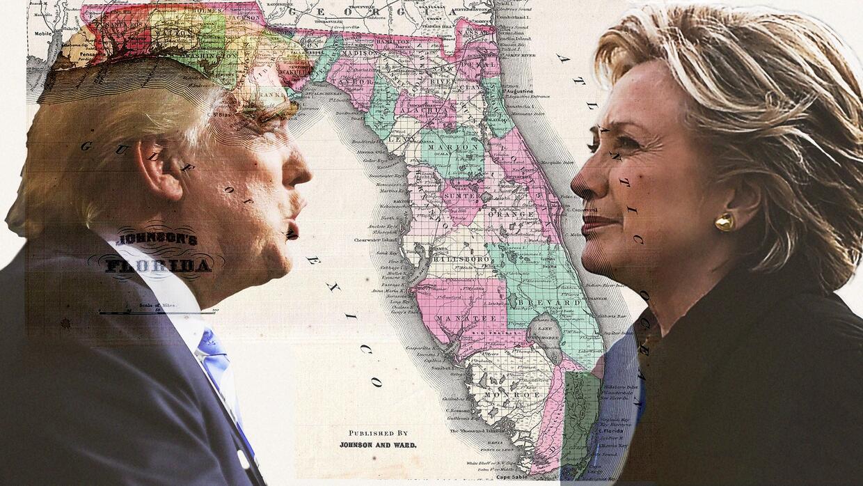 Donald Trump y Hillary Clinton concentran gran parte de sus esfuerzos en...