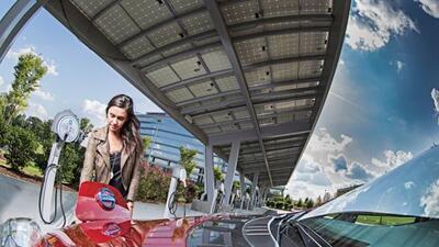 Los compradores del Nissan LEAF podrán recargar sus autos gratis.