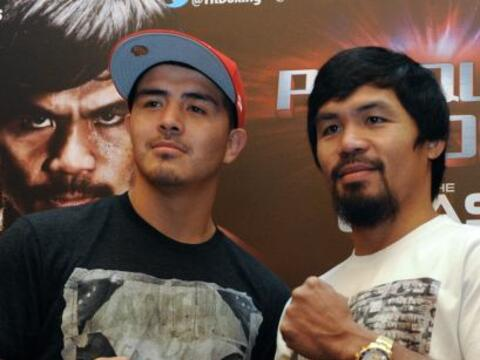 Manny Pacquiao y Brandon Ríos siguen con la gira mundial para pro...