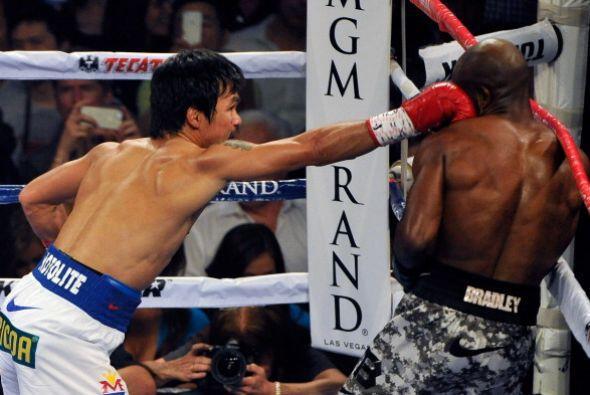 El filipino conectó casi el doble que Bradley.