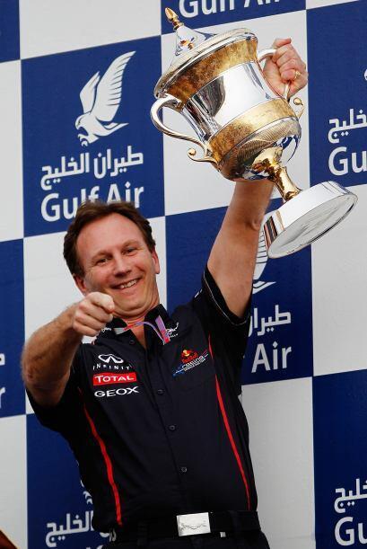 Christian Horner, jefe del equipo Red Bull fue el encargado de recibir e...