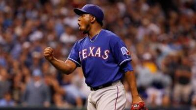 Neftalí Feliz cerró el triunfo que devolvió la ventaja a Rangers.