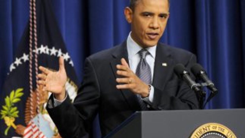 El presidente Obama durante la rueda de prensa en que defendió el presup...