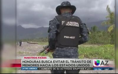 Fuerzas especiales detienen flujo de menores en Honduras