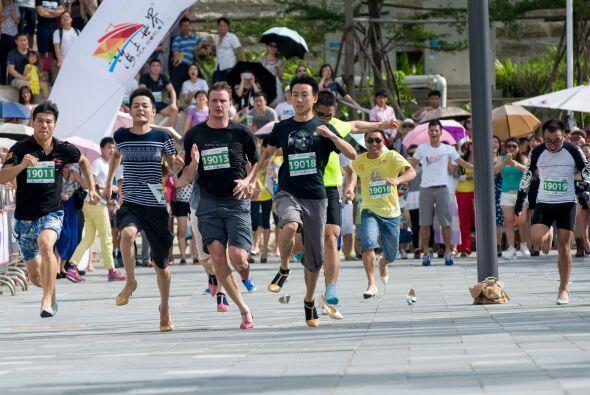 Se realizó en Shenzen, al sur de China, y los participantes demos...