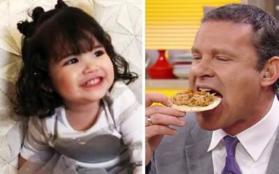 Giulietta ya sabe contar, y mira cómo le cuenta los tacos al Tío Alan