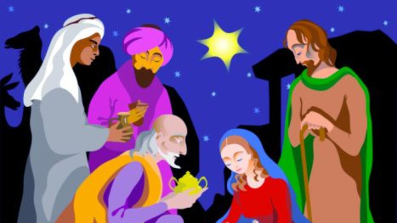 Los Tres Reyes Magos fueron, guiados por una estrella, de Oriente a Belé...