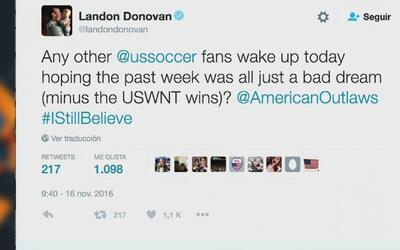 "Landon Donovan: ""Terrible semana para ser un fan de la selección de Esta..."