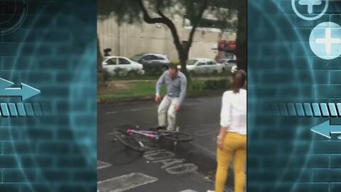 #LordDodge atropelló y agredió a ciclista
