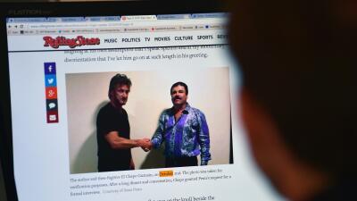 "La foto de Sean Penn y ""El Chapo""."