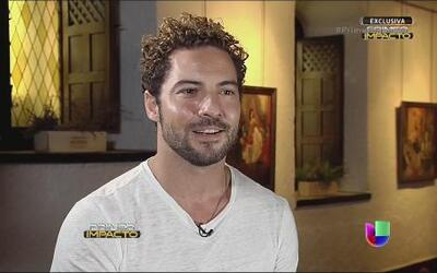 Exclusiva de Primer Impacto íntimamente con David Bisbal