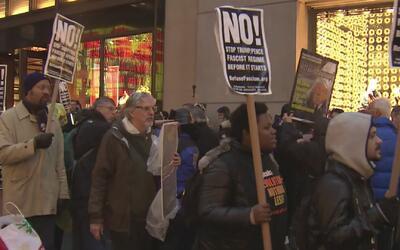 Manifestación en contra de Donald Trump por la agenda nuclear del billon...