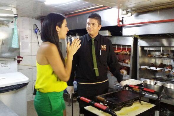 Y como buena reportera, platicó con el chef para conocer todos los detal...