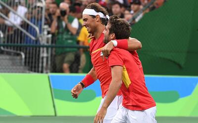 Rafael Nadal y Marc López