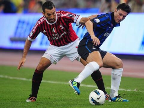 El Milan y el Inter disputaron la final de la Supercopa italiana en Pek&...