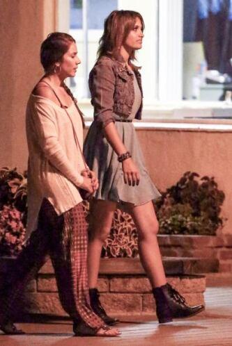 La hija del Rey del Pop estuvo en Calabasas con algunos amigos.
