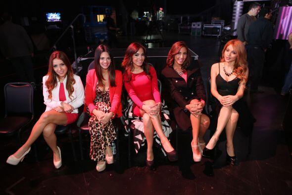 Aquí las guapas chicas, minutos antes de conocer a sus nuevas com...
