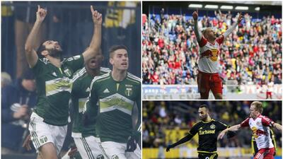 Tres goleadores récord en la MLS durante 2015.