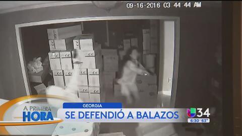 Mujer defendió su hogar a balazos