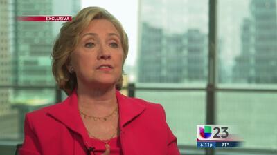 Exclusiva: Hillary Cinton habla de su postura sobre Cuba