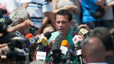 Henrique Capriles, candidato de la oposición que buscará sacar del poder...