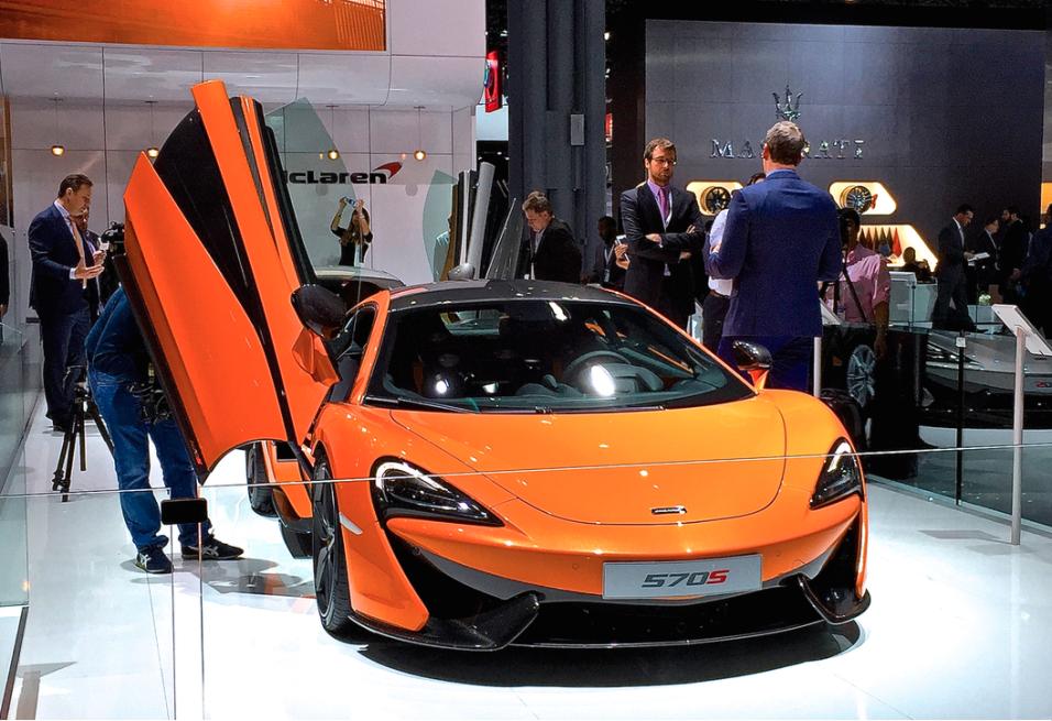 El McLaren 570S 2016 tras su debut en el Auto Show de Nueva York 2015