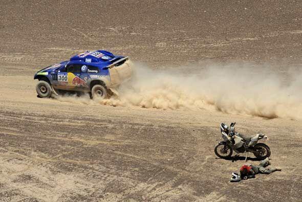 La cuarta etapa del Rally Dakar 2011 cruzó la Cordillera de los A...