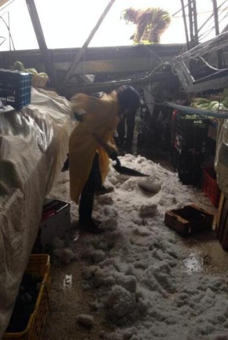Y se colapsaron los techos de dos mercados. Imagen tomada de Twitter.