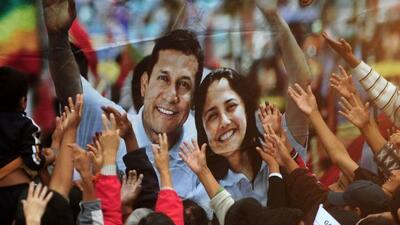 El candidato nacionalista Ollanta Humala se erigió en nuevo presidente d...