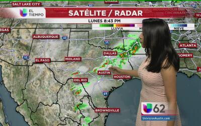 Alertan ante la presencia de fuertes lluvias en el centro de Texas