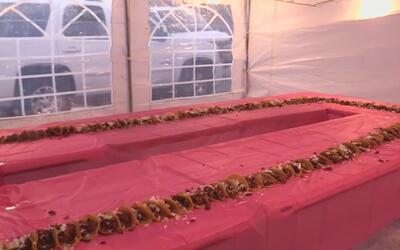 En Arlington celebran el Día de Reyes con una rosca hecha de tacos mexic...