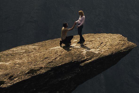 Para llegar a la roca, que simula un balcón o incluso una platafo...