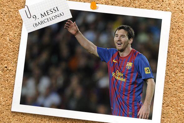 El ataque inicia con el argentino Lionel Messi.
