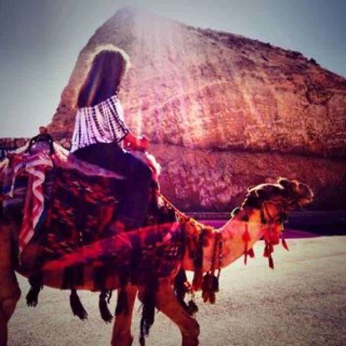 ¿Y qué sería un viaje a Medio Oriente sin un paseo arriba de un camello?