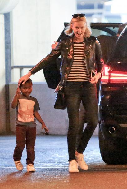 Su felicidad era evidente al saludar a su nene.