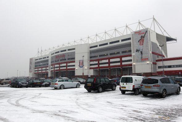 Así se veía el estadio previo al juego Stoke-Sunderland.