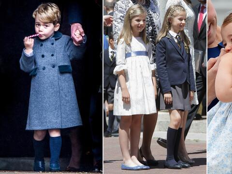 hijos realeza Principe George, princesas Leonor y Sofía, princesa Charlotte
