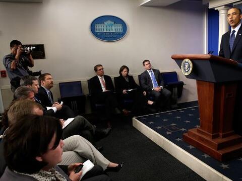 El presidente Barack Obama anunció que el gobierno está en...