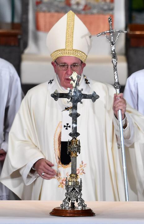 El papa Francisco en la Basílica