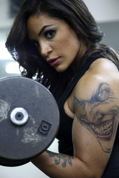 La Jordana Farah Malhass entrena en un gimnasio en Amman. Malhass ha gan...