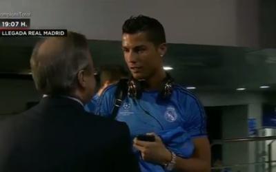Florentino con Cristiano