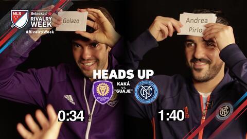 Kaká vs 'Guaje' Villa, estas leyendas del fútbol se le miden al Heads Up