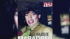 ¡Que fea! Maradona no luce muy bien como mujer