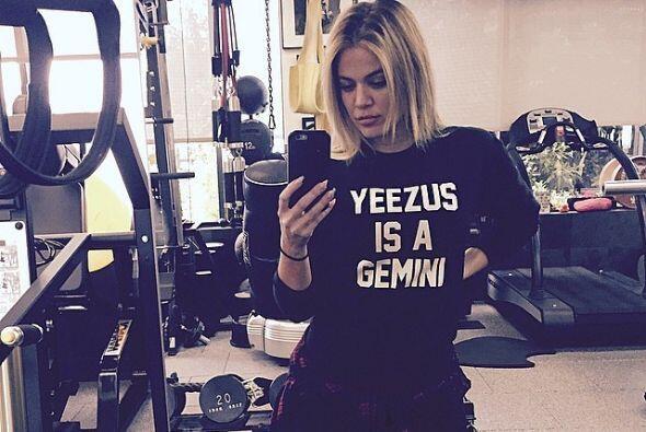 """No creemos que Khloé sólo vaya al gimnasio a sacarse """"selfies""""."""