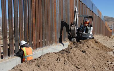 ¿Se está realmente construyendo el muro de Trump?